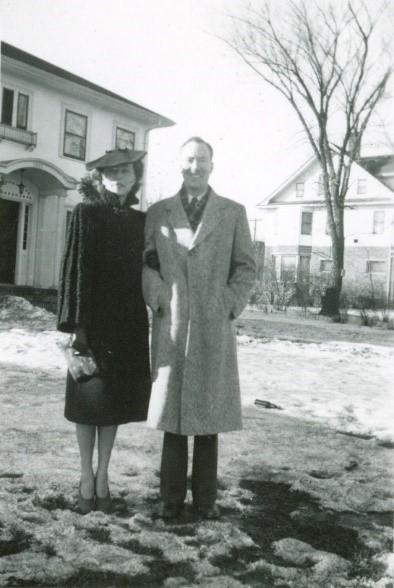 Helen Petersen Bentley and Fred Bentley, Saskatoon, Saskatchewan, ca. 1943