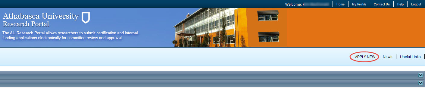 Portal Home Page
