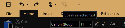 Image of quick access toolbar