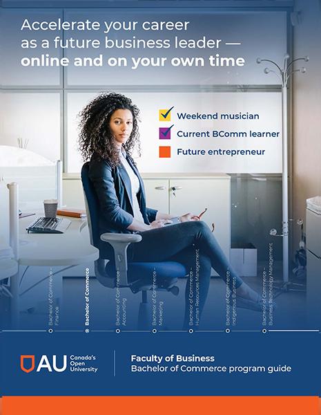 Bachelor of Commerce program guide front cover
